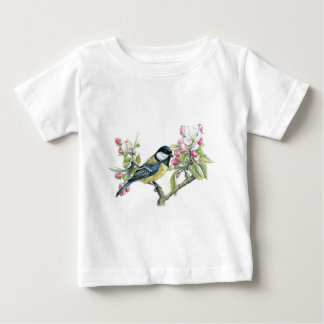 Bird and Apple Blossom Baby T-Shirt