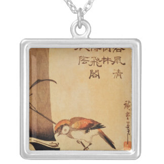 Bird and bamboo, c.1830, silver plated necklace