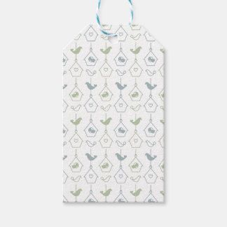Bird and Bird Boxes Gift Tag