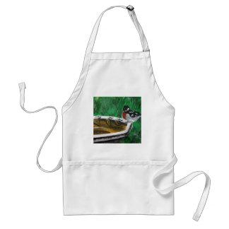 Bird and birdbath standard apron