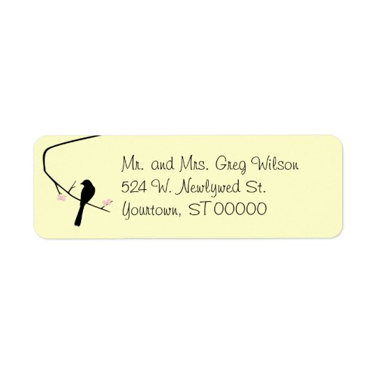 Bird and Blossom Return Address Label