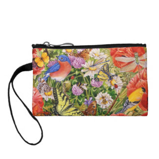 Bird and Butterflies Key Coin Clutch