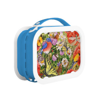 Bird and Butterflies Yubo Lunch Box