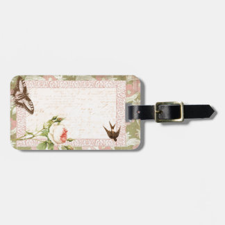 Bird and Butterfly Victorian Design Luggage Tag