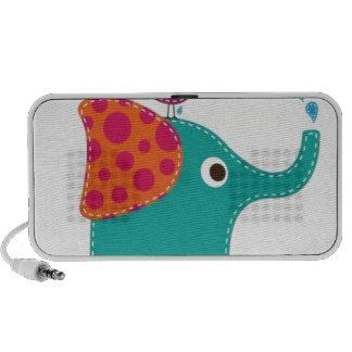 Bird and elephant speakers