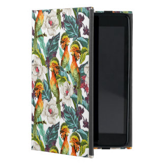 Bird And Exotic Flower Pattern iPad Mini Case