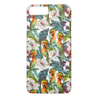 Bird And Exotic Flower Pattern iPhone 8 Plus/7 Plus Case
