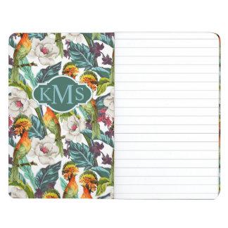 Bird And Exotic Flower Pattern | Monogram Journal