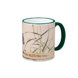Bird and Flower Album, Wading Cranes vintage art Ringer Mug