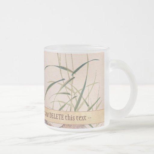 Bird and Flower Album, Wading Cranes vintage art Coffee Mugs