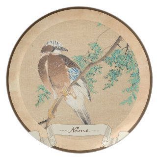 Bird and Flower, Eurasian Jay and Chinese Arborvit Plate