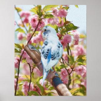 Bird and Flowers Springtime Print