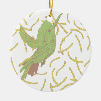 Bird and French Fries Christmas Ornament