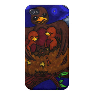 Bird and her Babies iPhone 4 Cover