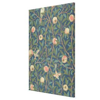 'Bird and Pomegranate' Wallpaper Design, printed b Canvas Print