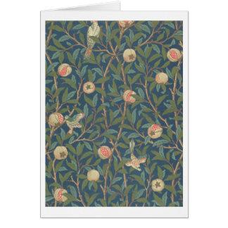 'Bird and Pomegranate' Wallpaper Design, printed b Card