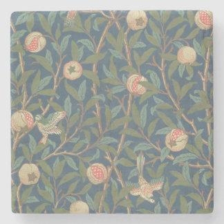 'Bird and Pomegranate' Wallpaper Design, printed b Stone Beverage Coaster