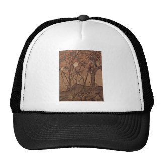 Bird and Tree painting by Chinesischer Maler Mesh Hats
