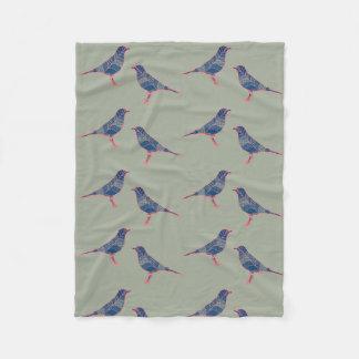 Bird art. fleece blanket