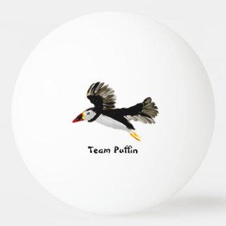 Bird Art Flying Puffins Ping Pong Ball