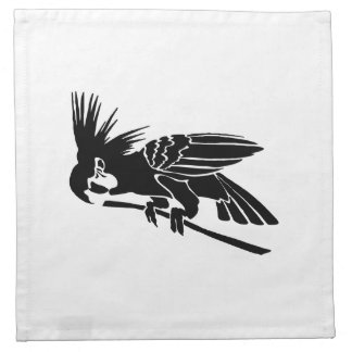 Bird Art Silhouette Printed Napkin