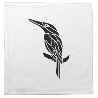 Bird Art Silhouette Cloth Napkins