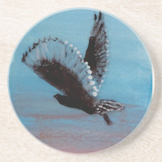 Bird at Sunrise Art Tawny Owl in Flight Coaster