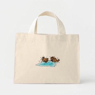 Bird Bath Tote Bags