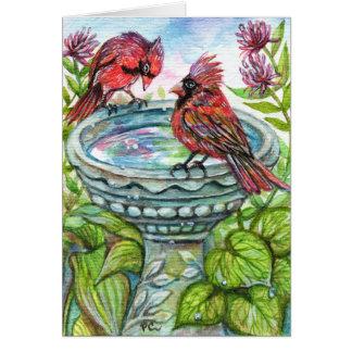 Bird Bath Card