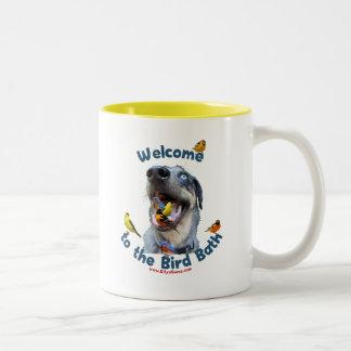 Bird Bath Dog Mugs