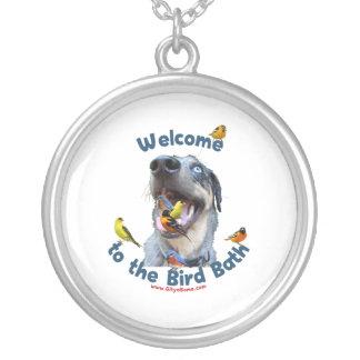 Bird Bath Dog Personalized Necklace