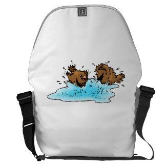 Bird Bath Messenger Bags