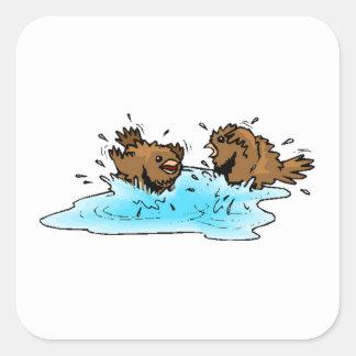 Bird Bath Sticker