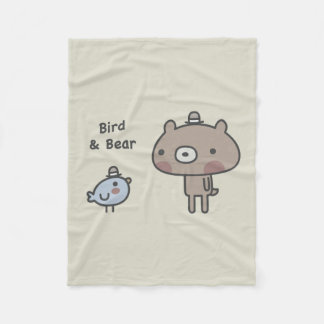 Bird & Bear Fleece Blanket
