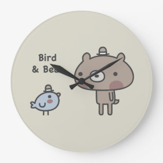 Bird & Bear Large Clock