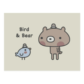 Bird & Bear Postcard