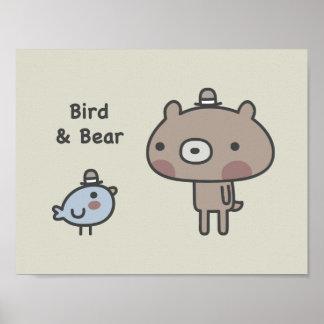 Bird & Bear Poster