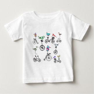 Bird Bike Illustration Baby T-Shirt