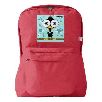 Bird(Black) Backpack, Red Backpack