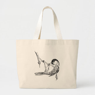 Bird / Black-Capped Chickadee Large Tote Bag