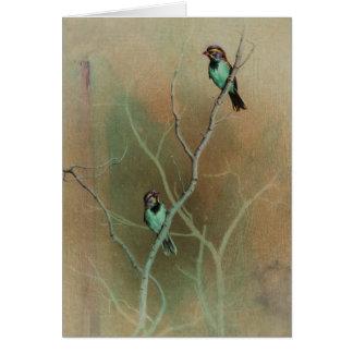 Bird Blank Card by Andrew Denman