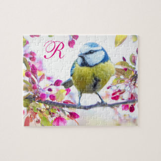 Bird & Blooms Monogram Jigsaw Puzzle