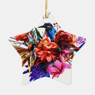 Bird Bouquet Christmas Ornament