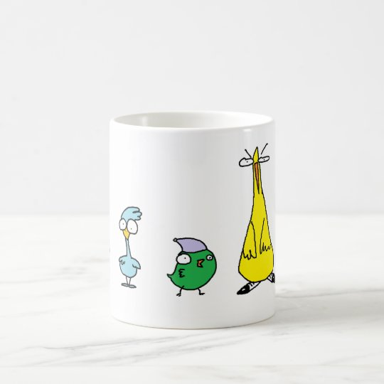 Bird brain coffee mug