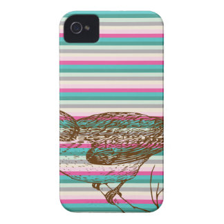 bird branch animals nature colorful pattern art iPhone 4 Case-Mate case