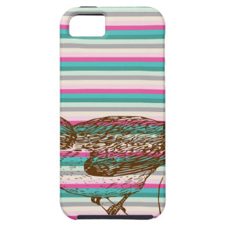 bird branch animals nature colorful pattern art iPhone 5 cases