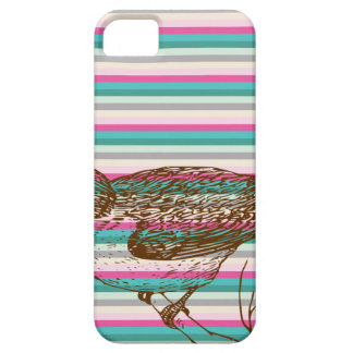 bird branch animals nature colorful pattern art iPhone 5 cover