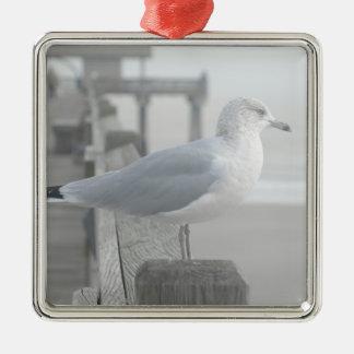Bird by the Ocean Christmas Ornament