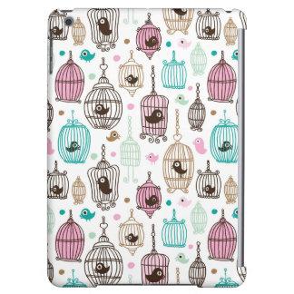 bird cage love kids background pattern