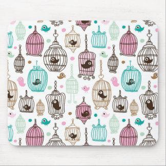 bird cage love kids background pattern mousepads